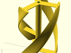Parametric helical Darrieus vertical axis wind turbine