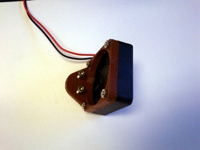 40mm vertical fan mount  (next to RAMPS board, rostock-mini)