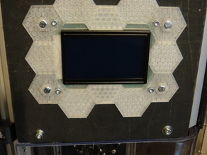 LCD12864 hexagonic mount