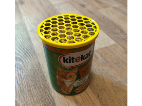 cat grass planter tin can lid