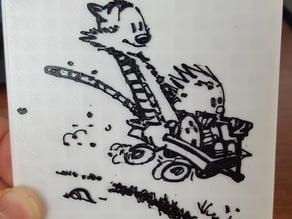 Calvin and Hobbes Wagon