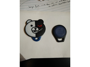 Monokuma key fob holder