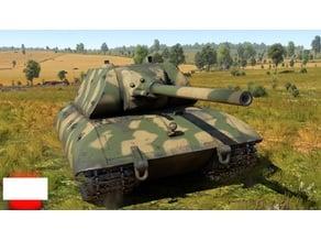 E-100 Tiger-Maus turret with 12.8cm gun