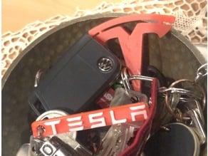 Tesla Keychain (T-Logo)