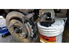 Brake piston tool