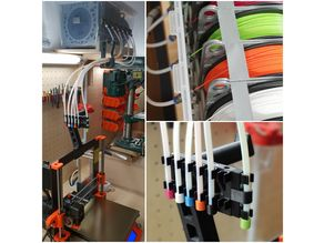 6 Spool Filament Dry Box Storage System with Bowden Tubes