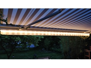 Halter für Philips Outdoor Lightstrip an warema Markise