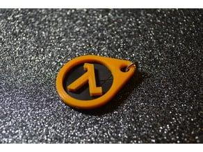 Lambda half-life keychain