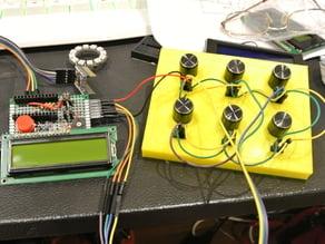 six variable poteniometer experimental lab