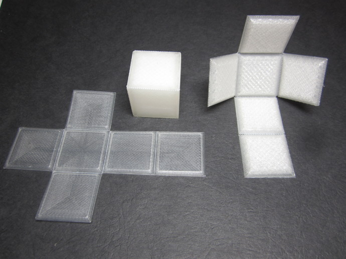 Foldable Cube Print Flat By Designmaketeach Thingiverse