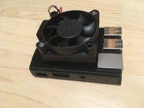 Raspberry sleeve case with fan