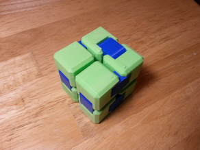 Yet Another Fidget Cube - Assembled with 1.75mm filament as hinge pins