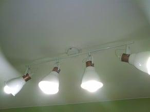 Light fixture adapter (hanging, sandwich method)
