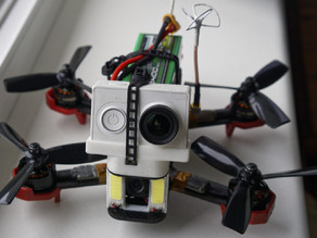 DL180 Quad FPV/HD camera and LED holder - full height version