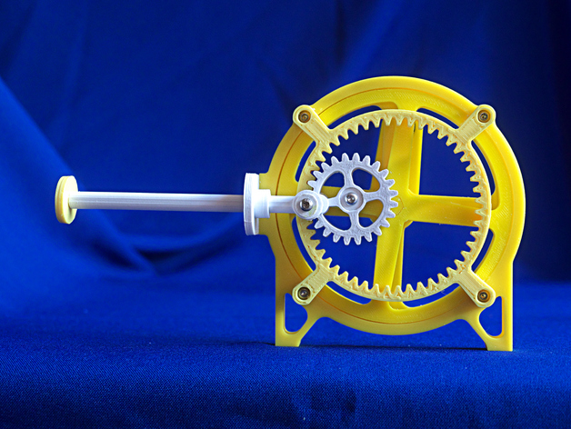 Rotary To Linear Drive By Mgg942 Thingiverse