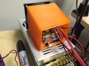 CNC Shield case + 80mm fan