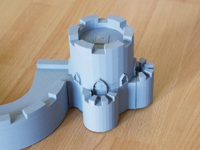 Parametric Donjon Tower for Modular Castle Playset