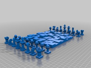 Full 3D Chess Set