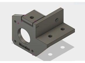Suporte para motor eixo 8 mm perfil estrutural 20 mm x 20 mm