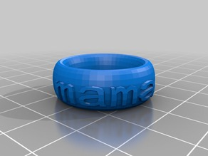 mama Text Ring/Bracelet/Crown Thing