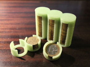 Parametric Coin Storage Tube(s) + Cap