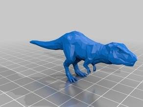 low poly tyrannosaurus