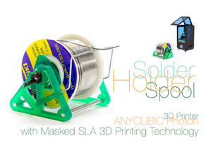 Solder Spool Holder with Masked SLA 3D Printing Technology