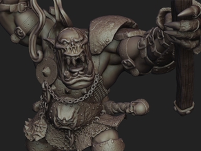WarHammer Character Grimgor IronHide - Head only