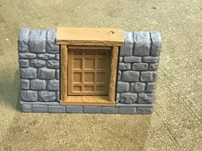 OpenForge Dungeon Stone Square Door