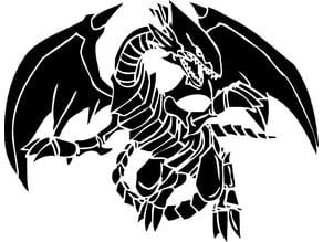 Blue-eyes white dragon stencil