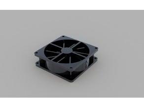 Fan 80x80mm CAD Model - Xilence 12V