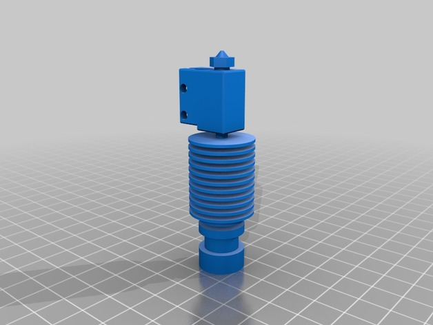 My Customized E3D-v6 Volcano All Metal HotEnd in OpenSCAD by