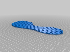 "Customizable ""cubic bezier"" terapeutic shoe insert"