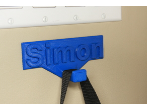Name plate hook
