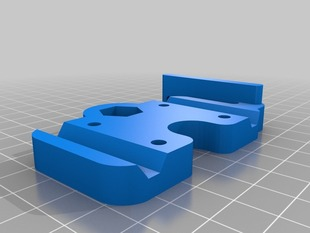 X-End Bottom clamp with incorporated mechanical endstop holder