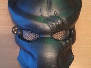 Predator mask with targeting LEDs