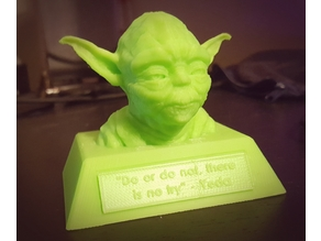 Yoda Bust and Plaque