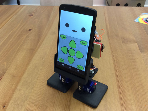 Mobbob Smart Phone Controlled Desktop Robot By Cevinius Thingiverse