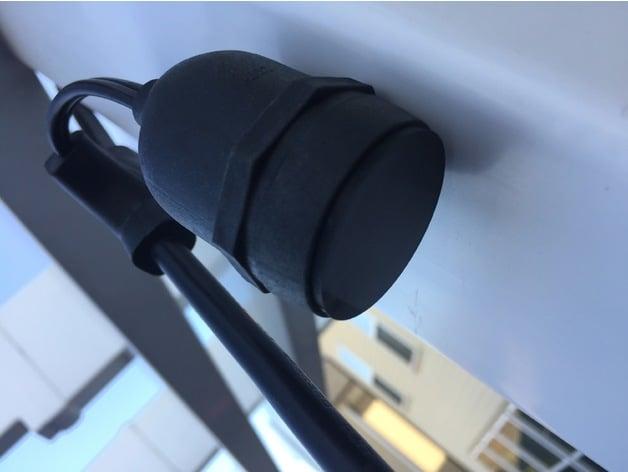 Light Bulb Socket Cap Plug By Thefpvgeek Thingiverse