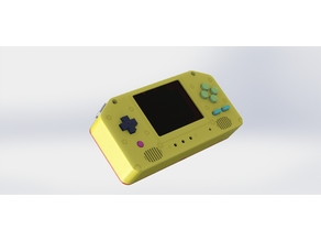 "Super Retrowidepie! 3.5"" Raspberry pi 2+ Portable Gaming Machine"