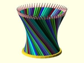 Hyperboloid with base, desktop pencil holder