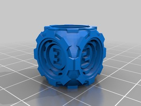 D6 Futuristic Rounded Inner Gears Dice - Numbers