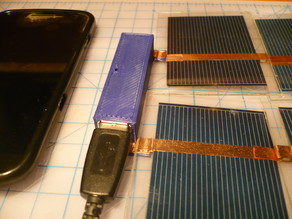 Solar Panel to USB converter case
