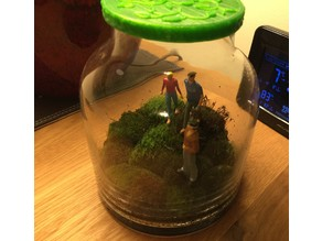 People in Moss Jar Landscape