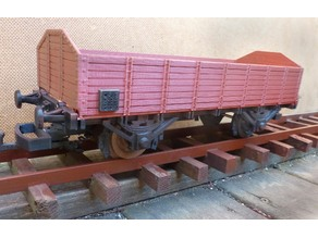 Open freight car 1:32 scale gauge 1