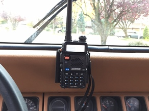 Baofeng UV-5R mount for Jeep YJ