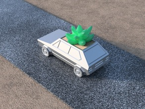 Volkswagen Golf GTI - Low Poly Planter