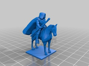 Mounted Witch/Wizard with Cape