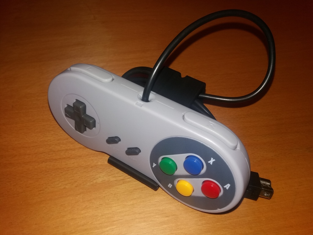 NES/SNES Controller stand with cable management by M4RCCR4FT