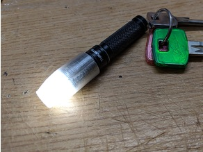 Thrunite Ti3 (or other 14mm diam. flashlight) diffusor with spare battery holder